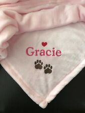 Personalized Super Soft Pink Pet Paws Blanket