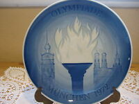 1972 Bing & Grondahl Munchen Olympic Games First Issue Plate