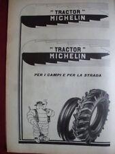 """Pubblicità gomme """"TRACTOR"""" Michelin 1950 Bibendum contadino"""