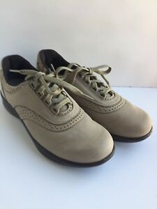 SAS Walk Easy Walking Shoe 9.5 Slim Suede Oxford Lace Up Tripad Comfort