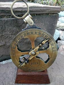Astrolabe nautique en laiton, neuf avec mode d'emploi, réplique de qualité