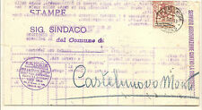 Italy DISCOUNTED POSTAGE  Sassone No.63 Unemployment Insurance Form Emilio 1924