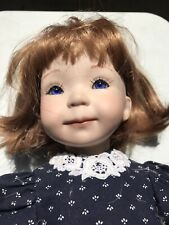 """""""Jenny II"""" porcelain doll By Dianna Effner 1993 Expressions 19"""" Blue Eyes"""