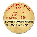 EDITABLE TELEPHONE DIAL NUMBER LABELS Rotary Bakelite phones 200 300 700 series