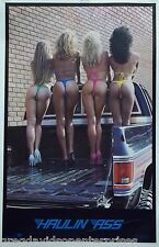 Haulin Ass 23x35 80's Pin Up Girl Poster Bikini Models