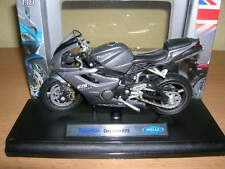 WELLY TRIUMPH DAYTONA 675 Gris / anthracite moto Moto, 1:18