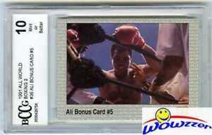 1991 All World #36 Muhammad Ali Bonus #5 BECKETT 10 MINT