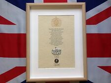 Gloucestershire Regiment Oath Of Allegiance With Cap Badge And Shilling