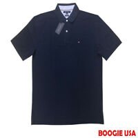 Tommy Hilfiger Men's New W/ Tags 100% Cotton Custom Fit Polo Shirt Navy Large