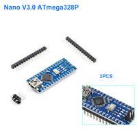 Neu 3x Arduino Nano V3.0 Kompatibel ATmega328P 5V 16MHz Board CH340 USB Chip