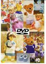 2000+ Knitting & Crochet Patterns 2 DVD Baby Toddler Childrens Doll Clothing 059