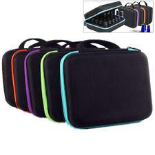 30 Roller 1-3ml Bottles Essential Oil Glass Case Empty Carry Holder Storage Bag&