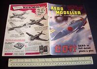 Vintage Aeromodeller Mag (July 1963) Engine Test Rythm 2.5. Mitsubishi A6M5 Zero