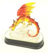 """New Red And Gold Light Up Color Changing Glass Dragon - 4.75"""" x 5"""" x 3"""" - Nwt"""