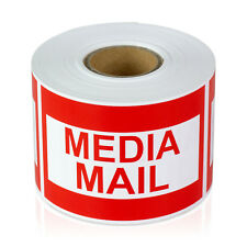 Media Mail Shipping Stickers Badge Self Adhesive Shipment Labels (2