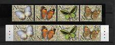 NIUE 2001, Butterflies, 2 x set of 4, MNH**(087)