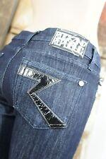 Rock & Republic Dark Jeans 5 Pocket Blizzard Black Silver W25 - Size 34