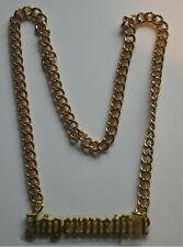 Jägermeister Reklame Goldkette Halskette Metall Kette (kein echtes Gold) Bar