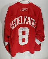 Reebok Justin Abdelkader #8 Signed Autographed Detroit Red Wings Jersey Size XL