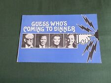 """ORIGINAL CINEMA PROMOTIONAL PRESS ITEM  - """" GUESS WHO'S COMING TO DINNER"""