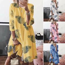 AU STOCK ZANZEA Women Summer Beach Club Party Sundress Plus Size Floral Dress