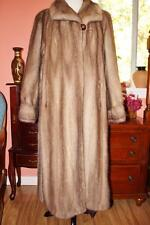 LUXURIOUS! RARE PASTEL MINK Full Length Fur Coat XL 14/16 Classic NOT VINTAGE!