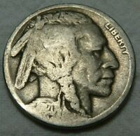 1920-S Buffalo Nickel 5c GOOD Condition (4-6) - Low Mintage - Bulk Discount