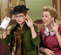 I Love Lucy Cast  Lucille Ball Vivian Vance  Color 8x10 Photo