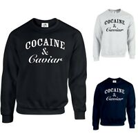 COCAINE AND CAVIAR JUMPER SWEATSHIRT TUMBLR HIPSTER SWAG DOPE TOP(COCAINE,SWEAT)