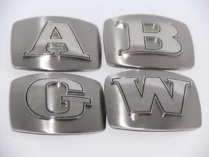 Gürtelschnalle, Buckle mit Buchstaben Initialen in Edelstahl 3D Alphabet