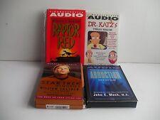 4 AUDIO BOOK LOT ( CASSETTE 1993-96 ) DrKATZ,RAPTOR RED, ABDUCTIN,S T MEMORIES