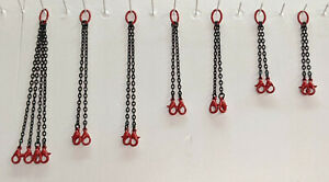 Crane Lifting Chain Set. In Authentic Manitowoc Red In 1/87th Scale.