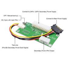 Dual Relay PSU Power Supply Adapter ATX 24-Pin 4-Pin Sync Starter BTC ETH Miner