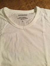 Jack & Jones Medium White V Neck cotton t shirt.
