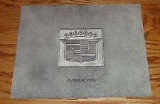 Original 1970 Cadillac Full Line Sales Brochure 70 Eldorado De Ville