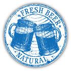 Fresh Beer Grunge Stamp Car Bumper Sticker Decal 5'' x 5''