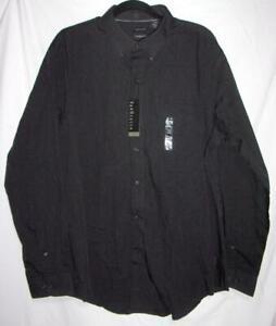 Men's Dress Shirt XL 17- 17-1/2 Van Heusen LS Black Gray Pin Stripe NEW MSRP $54
