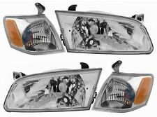 97-99 Toyota Camry Chrome Diamond Headlights + Corners 4PCS SET