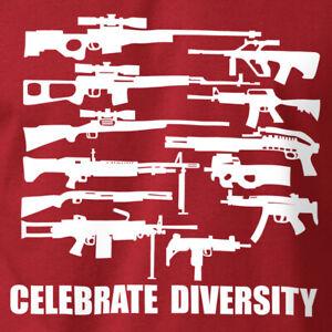 CELEBRATE DIVERSITY T-Shirt Gun Rights 2nd Amendment Soft Ring Spun Cotton Tee