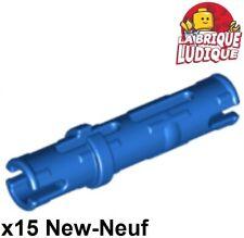 Lego Technic- 15x Pin Long with Friction Ridges Lengthwise bleu/blue 6558 NEUF
