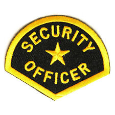 Embroidered Security Officer Iron on Sew on Biker Patch Badge