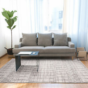 Deal Large Floor Rug Beige Soft Plush Diadmond Moroccan Lounges Carpet 200x290cm