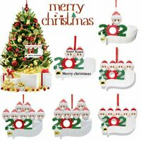 ADD Name 2020 Xmas Christmas Tree Hanging Ornament Family Decor Personalized New