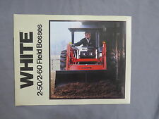 Vintage White Farm Equipment 2-50 2-60 Field Boss TRACTOR Sales Brochure 12 page