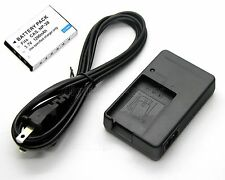 Battery+Charger for Casio Exilim EX-Z12 EX-Z15 EX-Z18 EX-Z60 EX-Z70 EX-Z77 Zoom