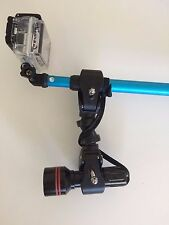 Camera Pole Light Mount - attach a light to your selfie stick