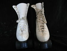 White Womens Roller Derby Quad Skates Size 7