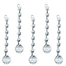 5 Clear Crystal Glass Chandelier Light Ball 20mm Prism Suncatcher Drops Pendant