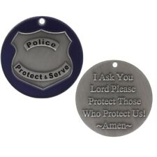12 Police Officer Prayer Coin  Token Christian Coin Protect Them (Set of 12)