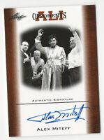 Alex Miteff 2010 Leaf Muhammad Ali Opponents Autograph Card Auto Rare #OAU1